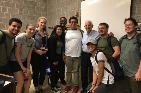 POLS 329 Students w Daniel Ellsberg